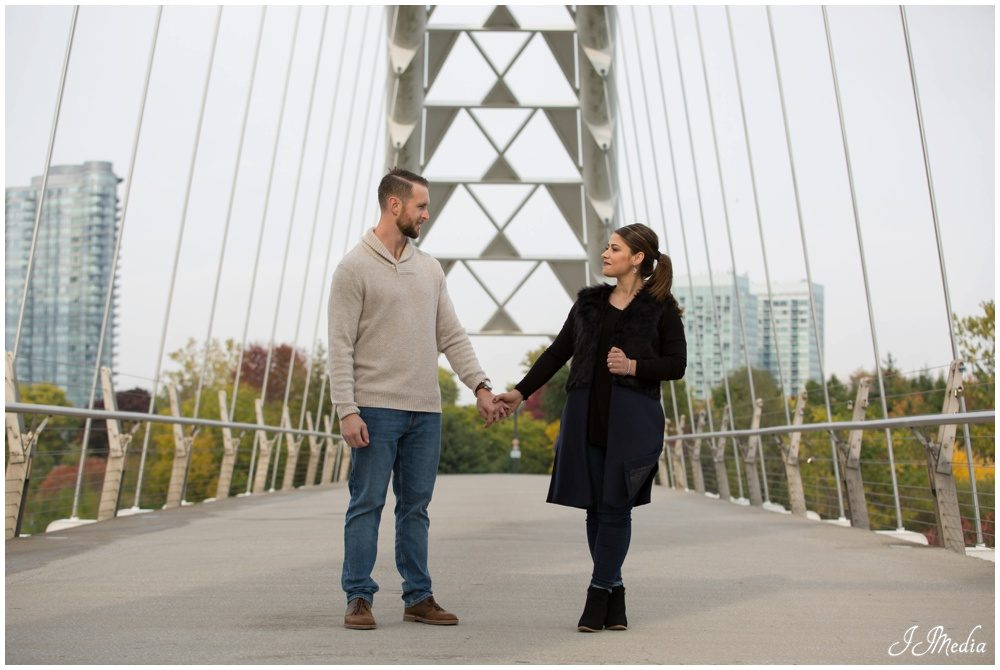 Eric and Melina, Humber Bay Bridge Engagement