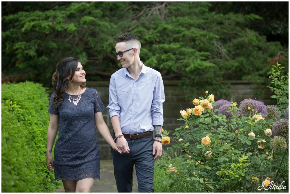 Estefania and Michael, Alexander Muir Memorial Gardens Engagement Photos